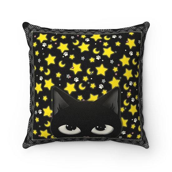 "Gothic Graffiti™ ""Kitty Majik"" Square Pillow"