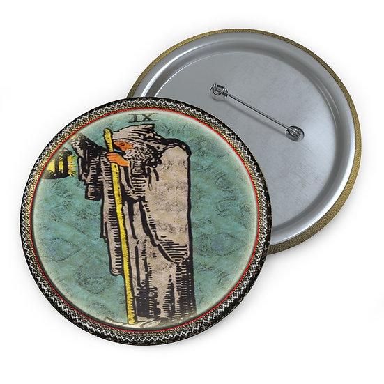 Tarot Card Button Pin-The Hermit