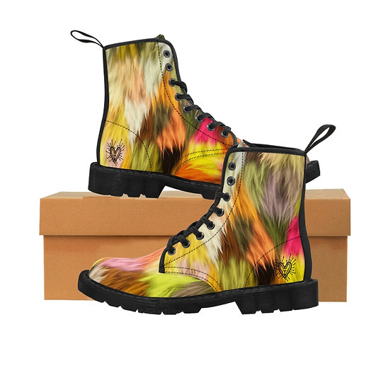 "Gothic Graffiti™ ""Fugly"" Men's Canvas Boots"