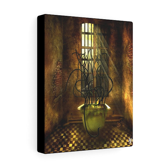 """Gothic Graffiti™ """"Welcome to Rosewood: The Bath"""" on Canvas"""