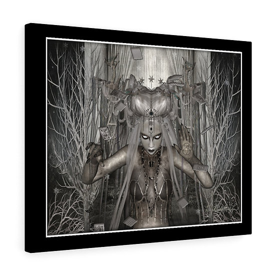 "Gothic Graffiti™ ""The Winter Wytche"" Stretched canvas"