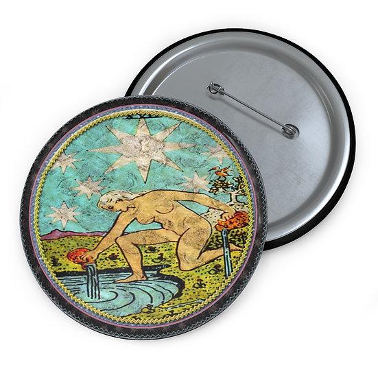 Tarot Card Button Pin-The Star