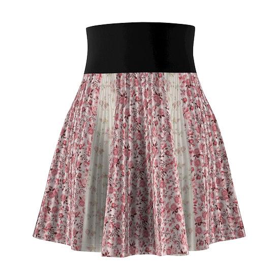 Gothic Graffiti™ Illusion Patchwork Floral Skater Skirt