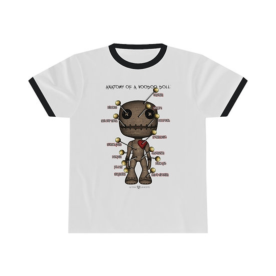 Gothic Graffiti™ Anatomy of a Voodoo Doll Ringer T-shirt