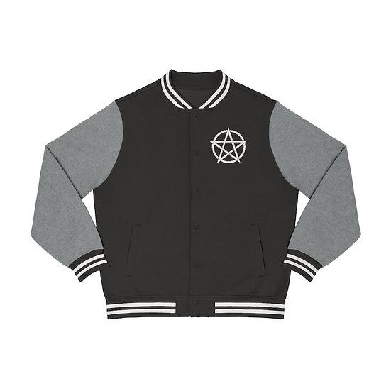 Gothic Graffiti™ Men's Embroidered Pentagram Varsity Jacket