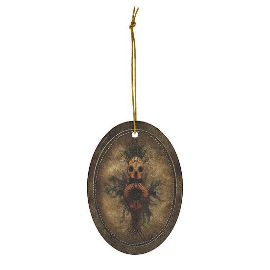 """""""Husker Fetch: Baba Duke"""" Talismanic Ceramic Ornament"""