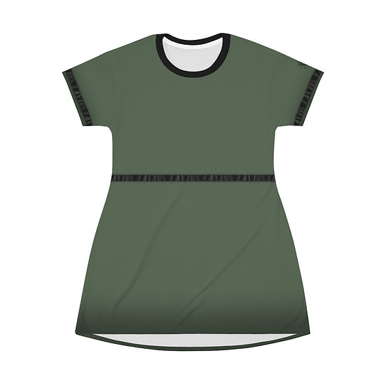 Gothic Graffiti™ Military Green T-Shirt Dress