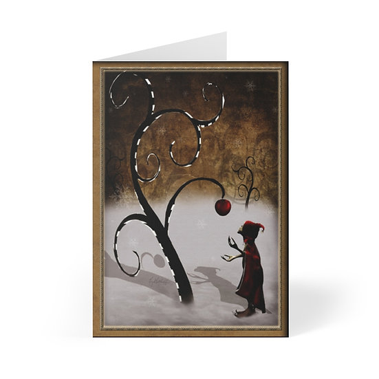 """""""The Last Apple"""" Winter Holiday Greeting Cards (8 pcs)"""