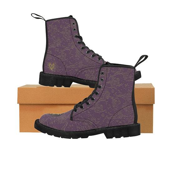"Gothic Graffiti™ ""Aconite"" Women's Canvas Boots"