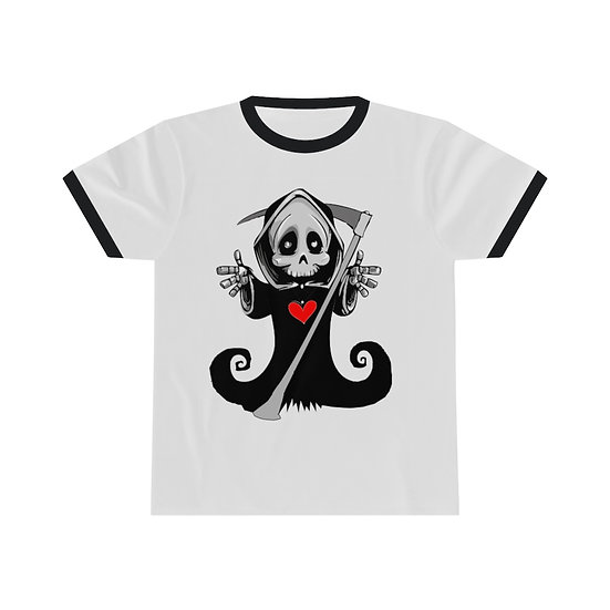 """Gothic Graffiti™ """"Love You To Death"""" Unisex Ringer T-Shirt"""