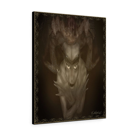"""Gothic Graffiti™ """"Within Deepest Wells"""" on Canvas"""