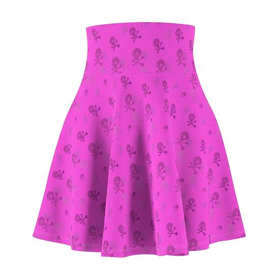 Gothic Graffiti™ Toxic Skull Pink Skater Skirt