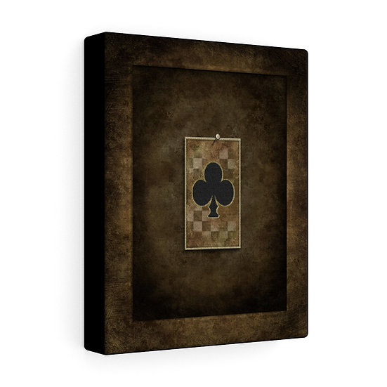 "Gothic Graffiti™ ""Aces & Eights: Ace of Clubs"" Stretched canvas"