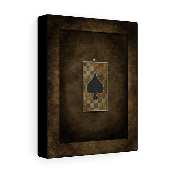 """Gothic Graffiti™ """"Aces & Eights: Ace of Spades"""" Stretched Canvas"""