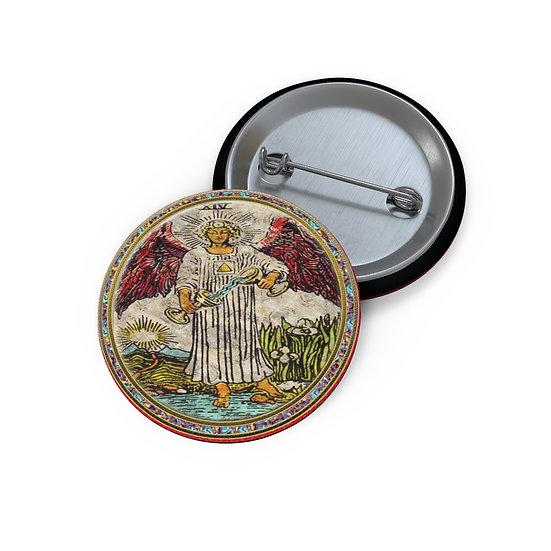 Tarot Card Button Pin-Temperance