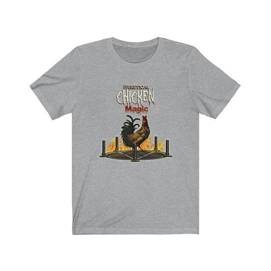 Heretical Chicken Magic Unisex Jersey Short Sleeve Tee