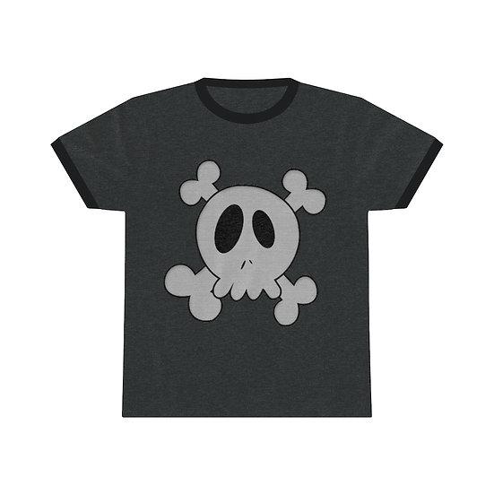 Gothic Graffiti™ Cutey Skull Unisex Ringer Tee