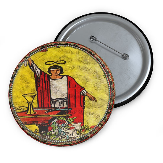 Tarot Card Button Pin-The Magician