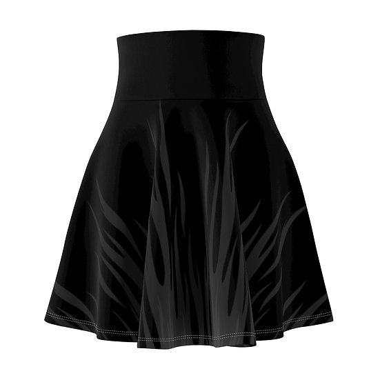 Gothic Graffiti™ Black Flame Skater Skirt