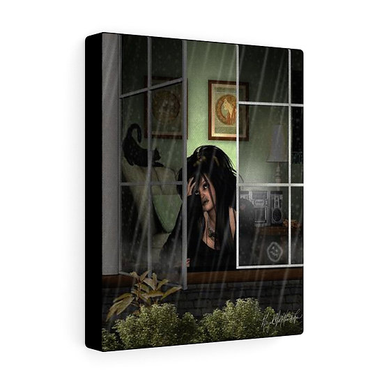 "Gothic Graffiti™ ""Black #1"" 8x10 on Canvas"
