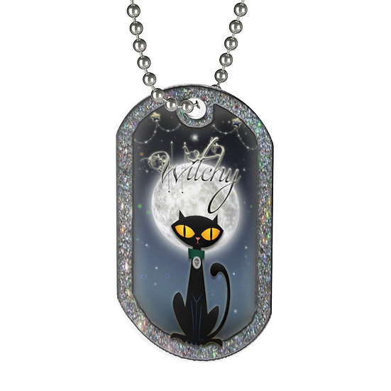 "Gothic Graffiti™ ""Witchy"" Portrait Tag Necklace"