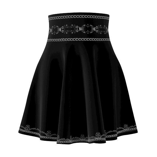 Gothic Graffiti™ Pentagram Vines Skater Skirt