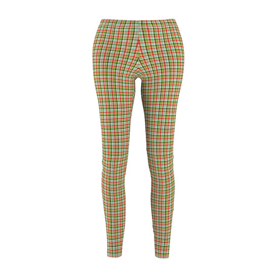 """Eye-Scream"" Plaid Leggins"