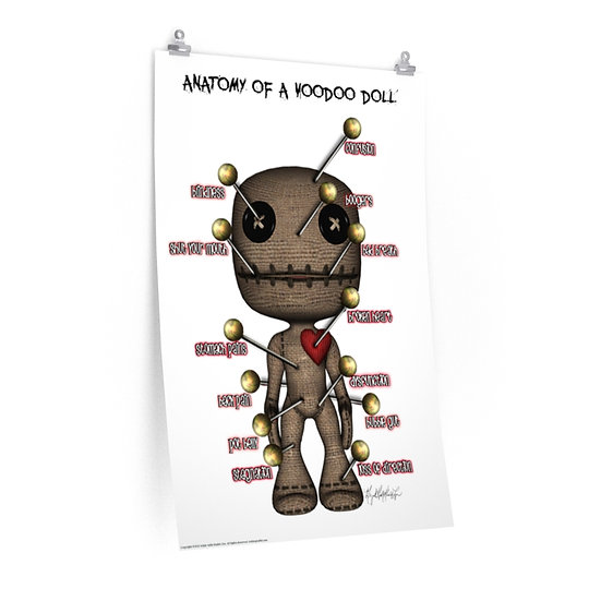 """Anatomy of a Voodoo Doll"" Premium Matte vertical poster"