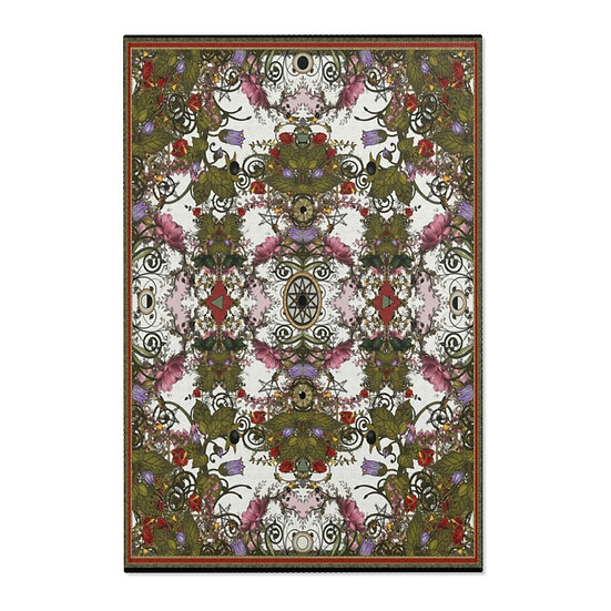 """Gothic Graffiti™ """"A Witch's Garden"""" Area/Temple Rug"""