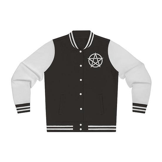 Gothic Graffiti™ Women's Embroidered Pentagram Varsity Jacket