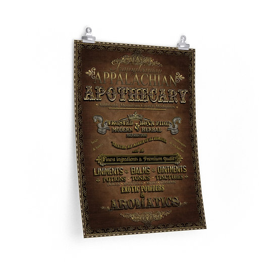 """Transylvanian Appalachian Apothecary"" Premium Matte vertical poster"