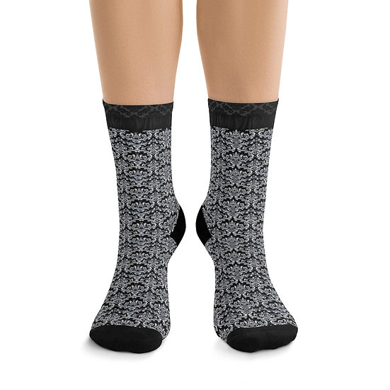 Gothic Graffiti™ Black & White Dual Pattern Socks
