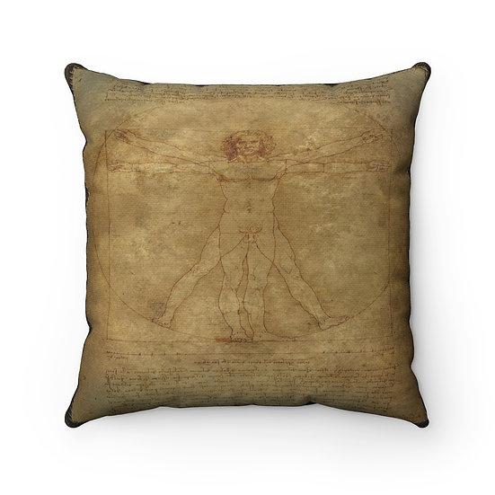 Gothic Graffiti™ Antidiluvian Man Square Pillow