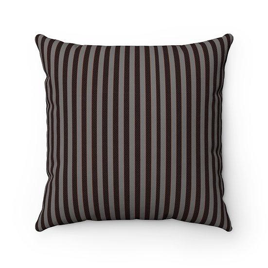 Gothic Graffiti™ Square Gray/Black Striped Halloween Pillow