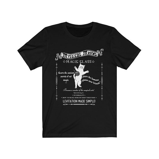 """Mystical Meows Magic Class"" Unisex Jersey Short Sleeve Tee"
