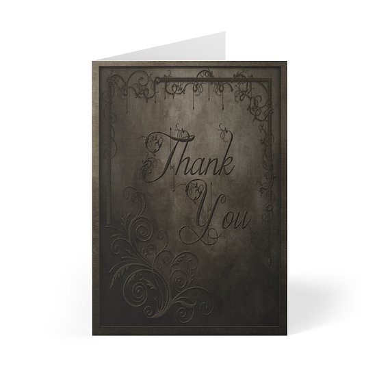 Gothic Thank You Cards (8 pcs)
