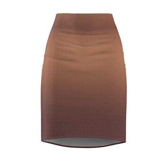 Gothic Graffiti™ Rose Gold Women's Pencil Skirt