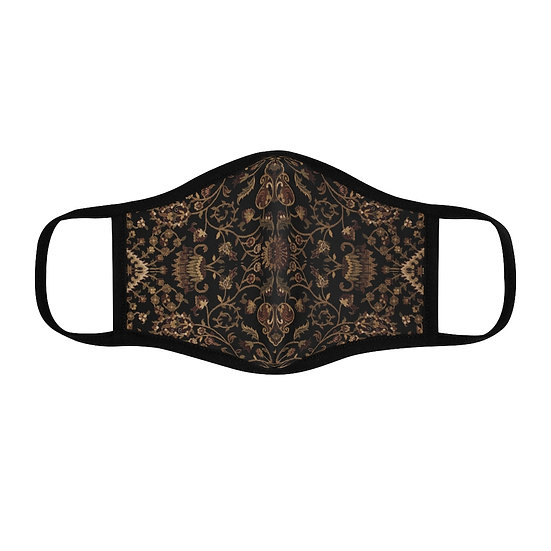 "Gothic Graffiti™ ""Persian Print"" Fitted Polyester Face Mask w/ filter pocket"