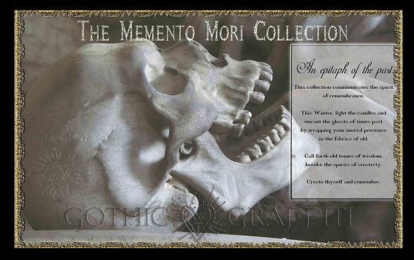 MEMENTO MORI COLLECTION logo skull ad-sm