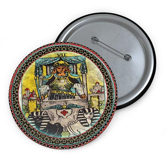 Tarot Card Button Pin-The Chariot
