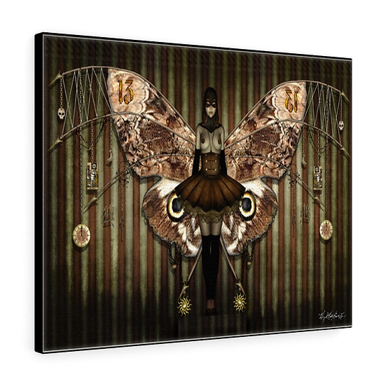 """Gothic Graffiti™ """"Fearful Symmetry"""" Stretched Canvas"""