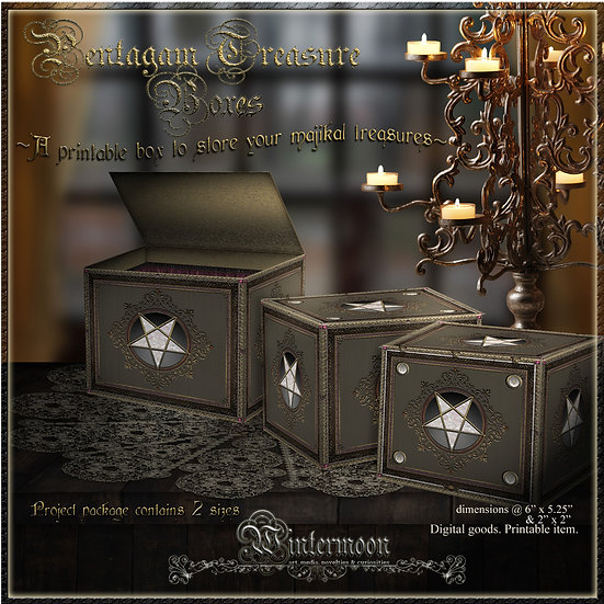 Pentagram Printable Treasure Boxes