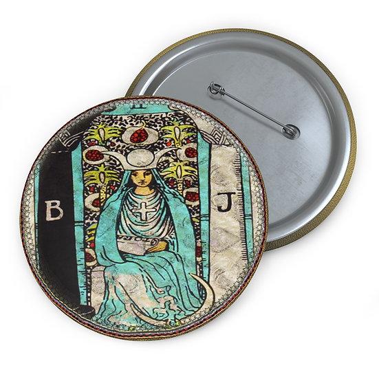 Tarot Card Button Pin-The High Priestess