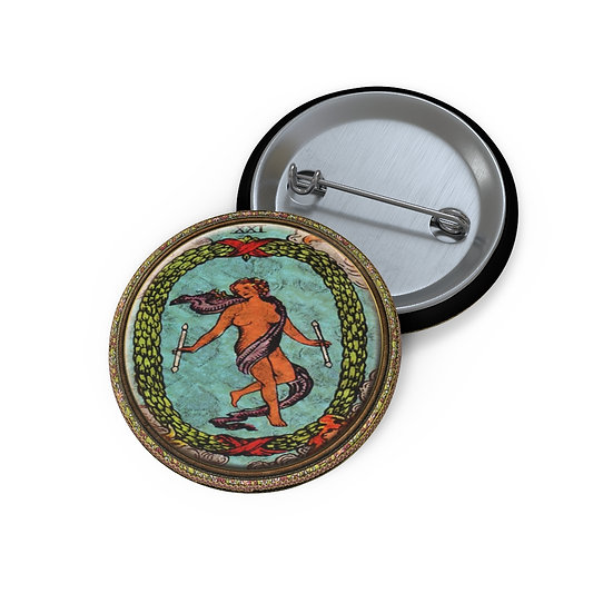 Tarot Card Button Pin-The World