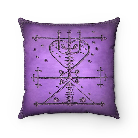 "Gothic Graffiti™ ""Maman Brigitte Veve"" Spun Polyester Square Pillow"