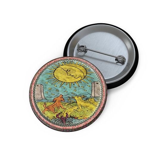 Tarot Card Button Pin-The Moon