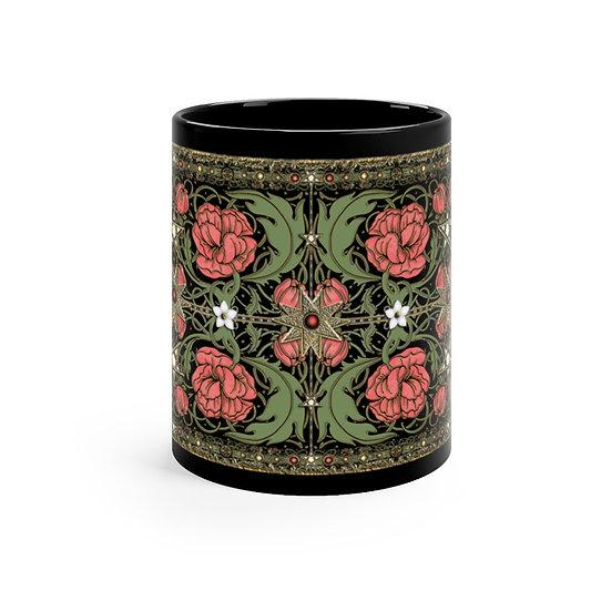 Magical 1930s Nouveau Black mug 11oz