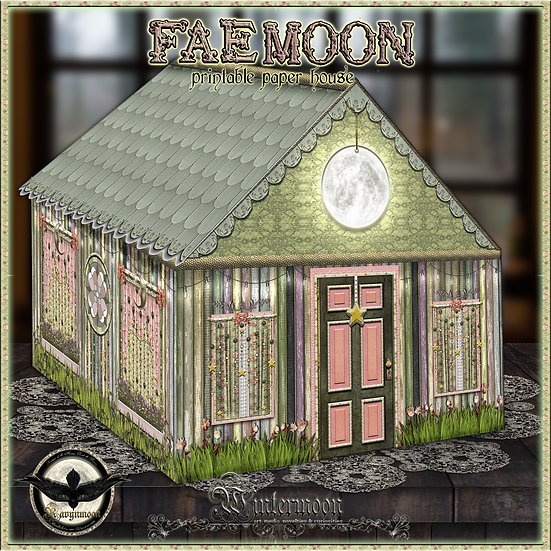 Fae Moon Paper House Craft