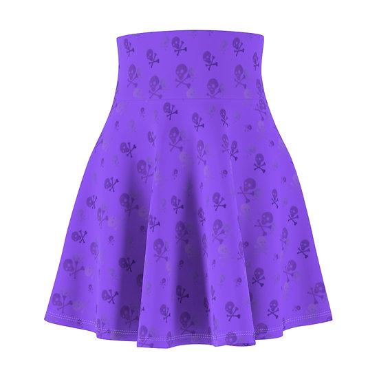 Gothic Graffiti™ Toxic Skull Purple Skater Skirt