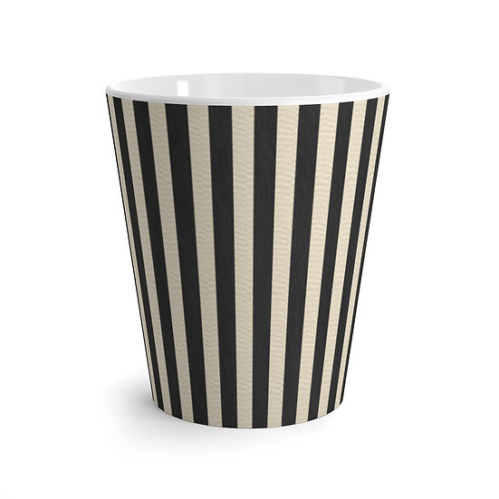 "Gothic Graffiti™ ""Vintage Striped"" Latte Mug"